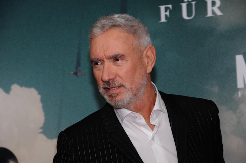 "24 October 2019, Bavaria, Munich: The director Roland Emmerich comes to his special screening of the world war drama ""MIDWAY- Für die Freiheit"". Theatrical release is 07 November 2019. Photo: Ursula Düren/dpa (Photo by Ursula Düren/picture alliance via Getty Images)"