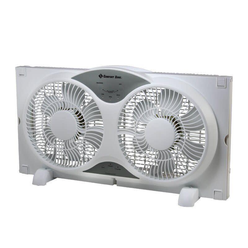 "This window fan has a remote that can control the power, functions, direction and speed of the fan. It has a 4.4-star rating across more than 40 reviews. <a href=""https://fave.co/2WAhO83"" rel=""nofollow noopener"" target=""_blank"" data-ylk=""slk:Find it for $33 at Wayfair"" class=""link rapid-noclick-resp"">Find it for $33 at Wayfair</a>."