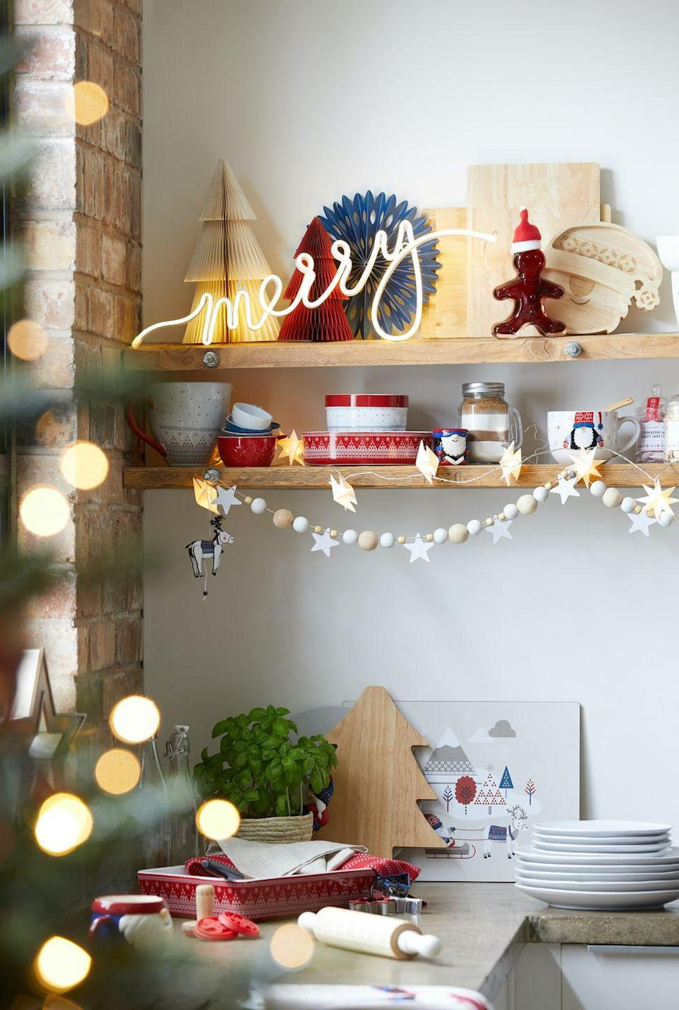 """<p>From seasonal storage to plates adorned with fun figurines, cheer up the Christmas cook with Dunelm's festive kitchenware. As the heart of the home, your kitchen also deserves some love this festive season...</p><p><strong>Follow House Beautiful on <a href=""""https://www.instagram.com/housebeautifuluk/"""" rel=""""nofollow noopener"""" target=""""_blank"""" data-ylk=""""slk:Instagram"""" class=""""link rapid-noclick-resp"""">Instagram</a>.</strong></p>"""