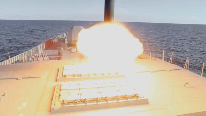 Missile launch - RUSSIAN DEFENCE MINISTRY via reuters