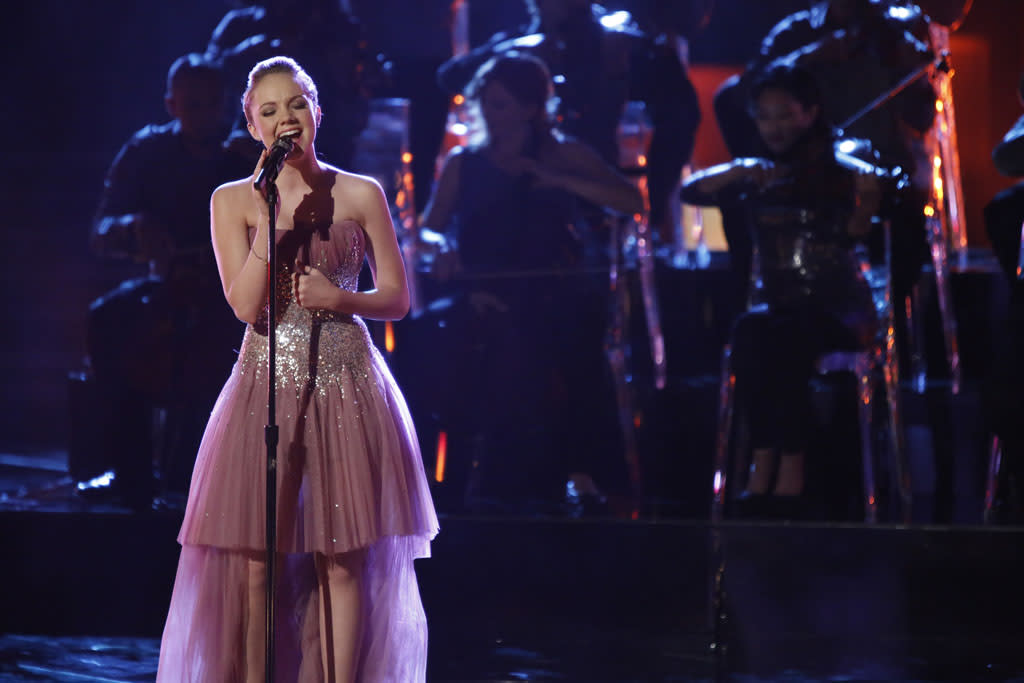 "Danielle Bradbery performs ""Please Remember Me"" on the ""Live Semi-Final Performances"" episode of ""The Voice"" Season 4."