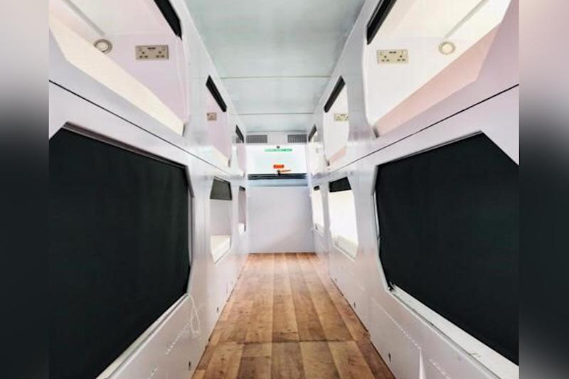 Old double-decker buses upcycled into shelters for homeless Londoners