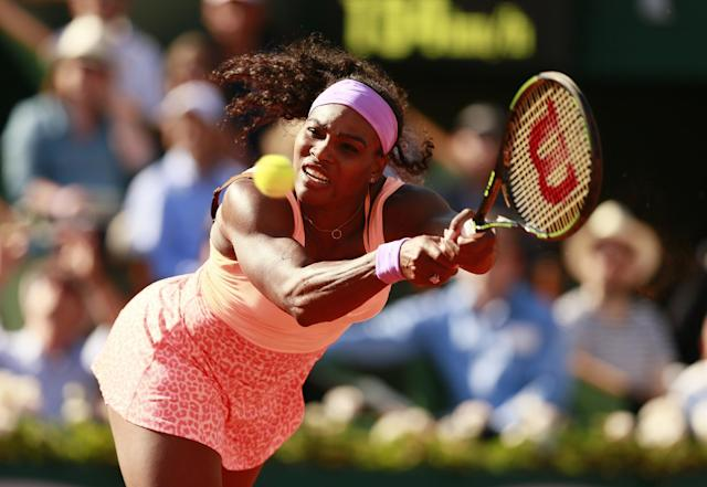Tennis - French Open - Roland Garros, Paris, France - 4/6/15 Women's Singles - USA's Serena Williams in action during the semi final Action Images via Reuters / Jason Cairnduff Livepic
