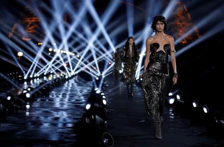 Saint Laurent brings elegance to dazzling show in front of Eiffel Tower