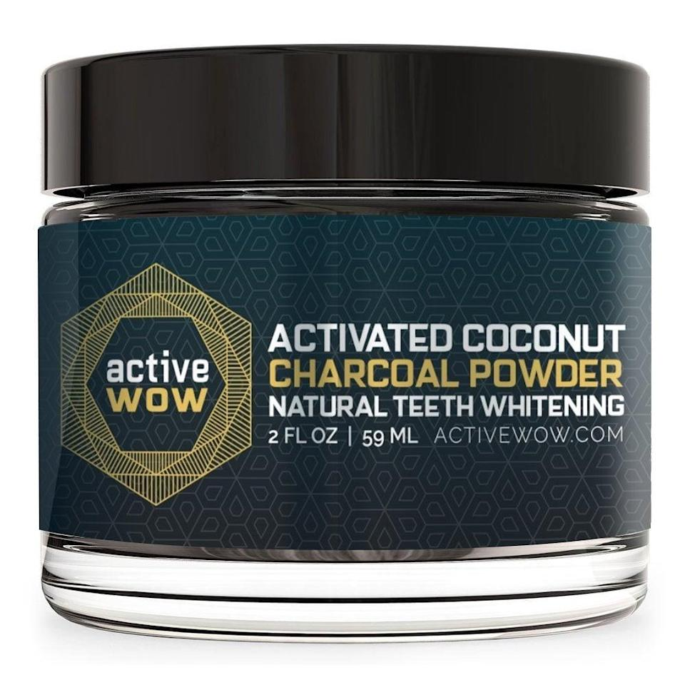 """<p>""""I am always looking for ways to have a movie-star-glowing grin, so I was excited to find this popular <span>Active Wow Teeth Whitening Charcoal Powder</span> ($20). It's the No. 1 bestselling option on Amazon. I decided to put the product to the test myself. Wondering <a href=""""https://www.popsugar.com/beauty/Teeth-Whitening-Charcoal-Powder-Amazon-44537089"""" class=""""link rapid-noclick-resp"""" rel=""""nofollow noopener"""" target=""""_blank"""" data-ylk=""""slk:how charcoal works"""">how charcoal works</a>? The brand explains it best. 'Derived from the highest-quality coconut sources, Active Wow's activated charcoal formula is safe to use for whitening your teeth, while being easy on your gums. Active Wow naturally whitens your teeth, not through harsh dental-grade whitening peroxides, but through the power of activated charcoal, nature's best purifiers, and detoxifiers.'""""- MCW</p>"""