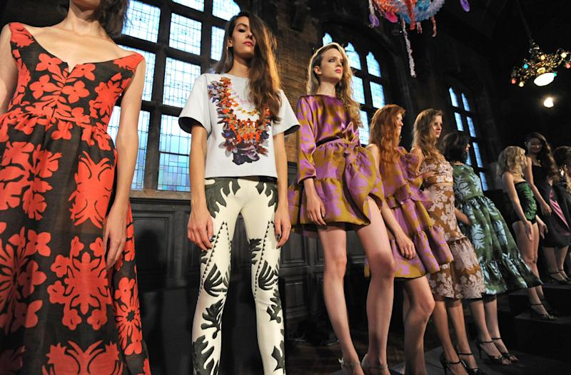 The Cynthia Rowley Spring 2014 collection is modeled during Fashion Week, Saturday, Sept. 7, 2013, in New York. (AP Photo/Louis Lanzano)