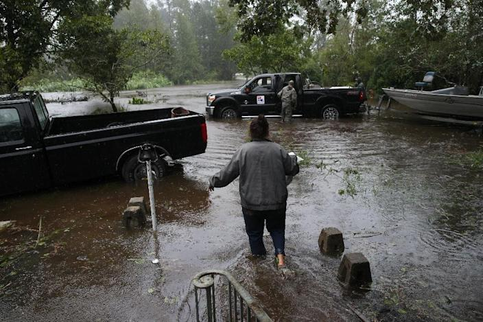 Climate change is blamed for a rise in disasters such as the hurricane that struck North Carolina in September 2018 (AFP Photo/Alex EDELMAN)