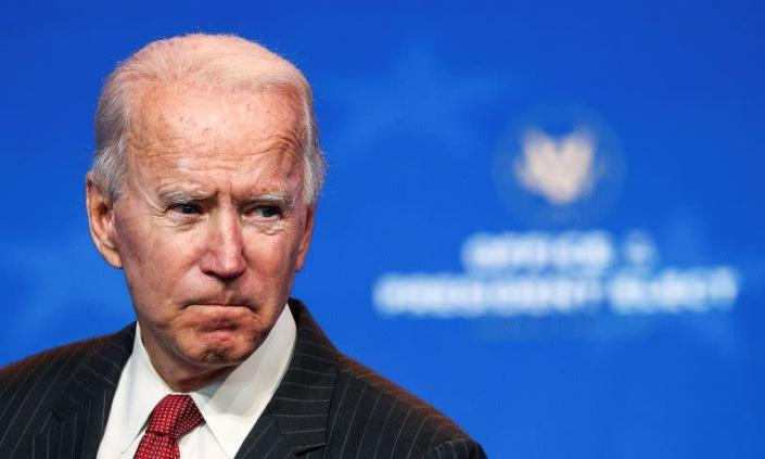 FILE PHOTO: U.S. President-elect Joe Biden speaks after meeting with governors in Wilmington, Delaware