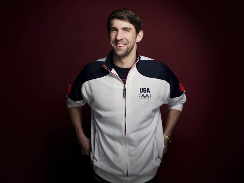 FILE - In this May 13, 2012, file photo, Michael Phelps poses for a portrait at the Olympic Media Summit in Dallas. Phelps has added another triumph to his list of accomplishments: The Associated Press male athlete of the year, Thursday, Dec. 20, 2012. (AP Photo/Victoria Will, File)