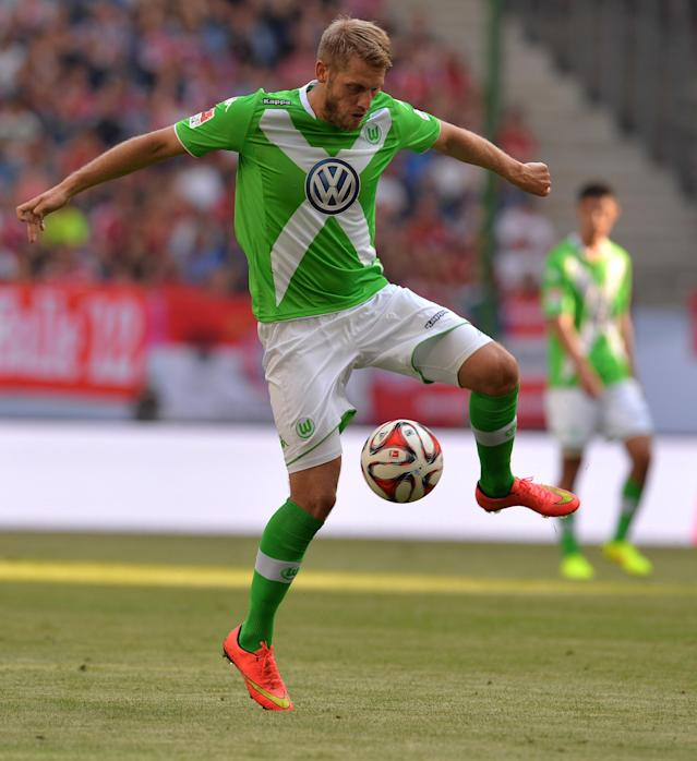 Wolfsburg's Aaron Hunt during the Telekom Cup match against Hamburg in Germany on July 26, 2014 (AFP Photo/Carmen Jaspersen)
