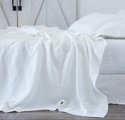 """<p>roughlinen.com</p><p><strong>$414.00</strong></p><p><a href=""""https://www.roughlinen.com/collections/linen-sheets-collection/products/orkney-linen-summer-bed"""" rel=""""nofollow noopener"""" target=""""_blank"""" data-ylk=""""slk:Shop Now"""" class=""""link rapid-noclick-resp"""">Shop Now</a></p><p>Few things are more luxurious than linen sheets on a hot summer night. Rough Linen, based in California, makes gorgeous linen bedding, and now the company has begun producing masks as well as donating bedding to Kaiser Permanente's medical staff.</p>"""
