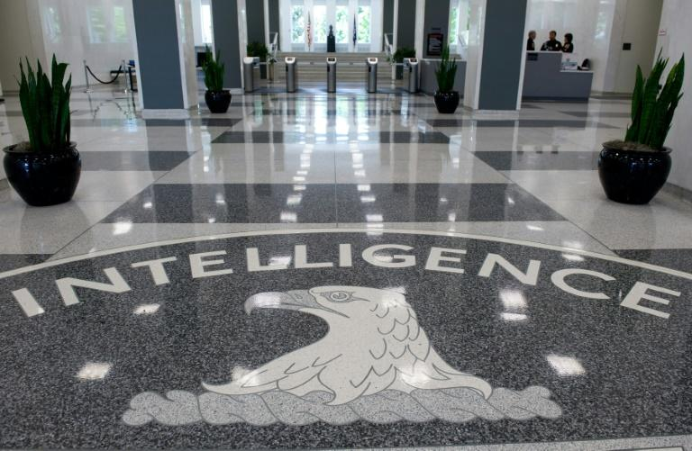 The Central Intelligence Agency (CIA) seal displayed in the lobby of CIA Headquarters in Langley, Virginia (AFP Photo/SAUL LOEB)