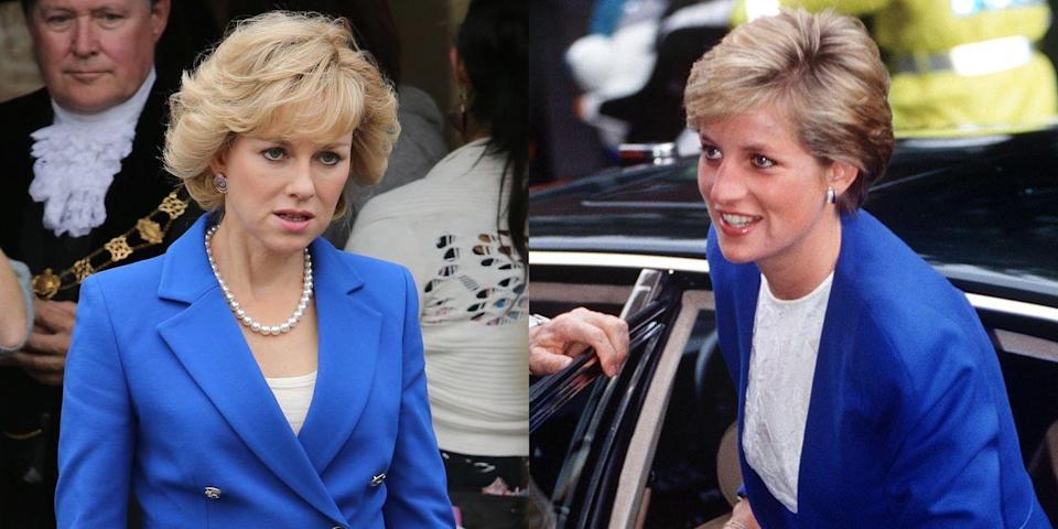 <p>Watts played Princess Diana in the 2013 film <em>Diana, </em>and she totally nailed the look. </p>