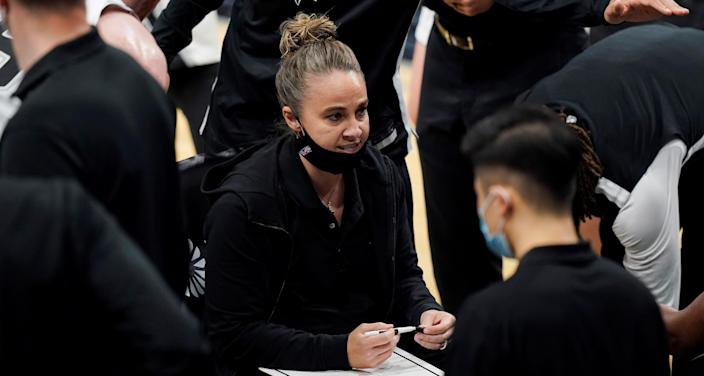 Spurs assistant coach Becky Hammon is a strong candidate for the Magic coaching job.