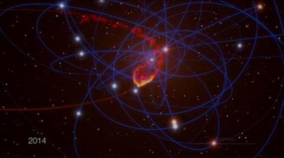 Milky Way's Giant Black Hole to Eat Space Cloud in 2013