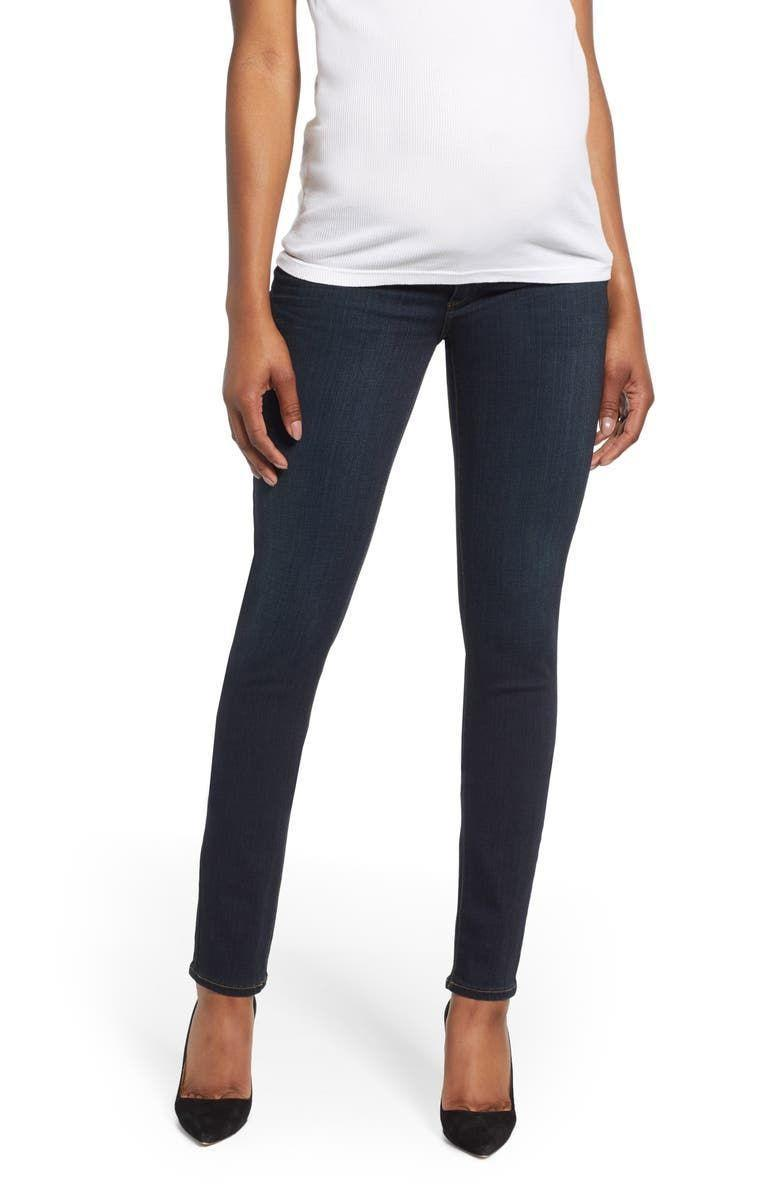 """<p><strong>PAIGE</strong></p><p>nordstrom.com</p><p><strong>$199.00</strong></p><p><a href=""""https://go.redirectingat.com?id=74968X1596630&url=https%3A%2F%2Fshop.nordstrom.com%2Fs%2Fpaige-transcend-skyline-skinny-maternity-jeans-mona%2F4270885&sref=https%3A%2F%2Fwww.goodhousekeeping.com%2Fchildrens-products%2Fg34498315%2Fbest-maternity-jeans%2F"""" rel=""""nofollow noopener"""" target=""""_blank"""" data-ylk=""""slk:Shop Now"""" class=""""link rapid-noclick-resp"""">Shop Now</a></p><p>While many designer denim brands offer maternity styles, don't expect them to fit the same as your favorite pre-pregnancy jeans. That being said, these fan-favorite Paige jeans do not disappoint. <strong>Users love how thick and substantial the fabric feels</strong><strong>, while still being stretchy and non-constricting.</strong> Note that the inseam is 31"""" long, so shorter moms might need to have them hemmed.</p>"""