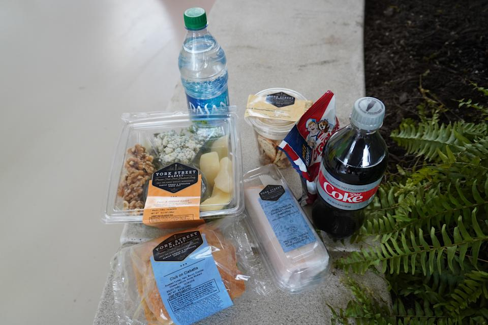 On opening weekend, all of the food and snacks were on the house. The options, though, were limited.