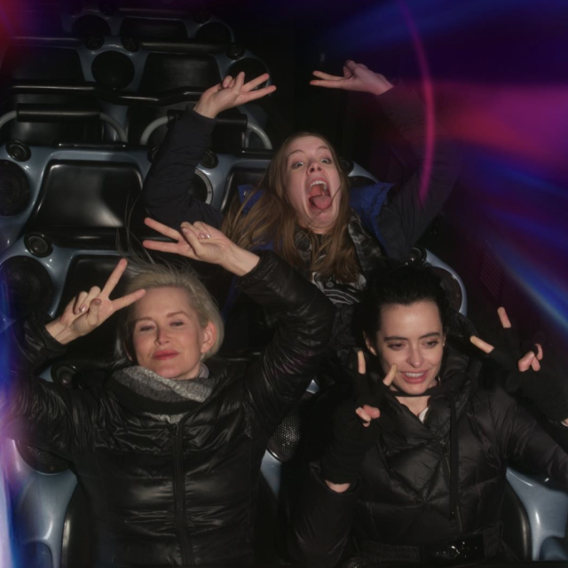 "<p>The <em>Jessica Jones</em> star, right, and some friends made sure their poses were on point while having some fun at Disneyland. ""Space Mountain nerds,"" she captioned this fun photo. (Photo: <a href=""https://www.instagram.com/p/BelnT0ZlaQ9/?taken-by=therealkrystenritter"" rel=""nofollow noopener"" target=""_blank"" data-ylk=""slk:Krysten Ritter via Instagram"" class=""link rapid-noclick-resp"">Krysten Ritter via Instagram</a>)<br><br></p>"
