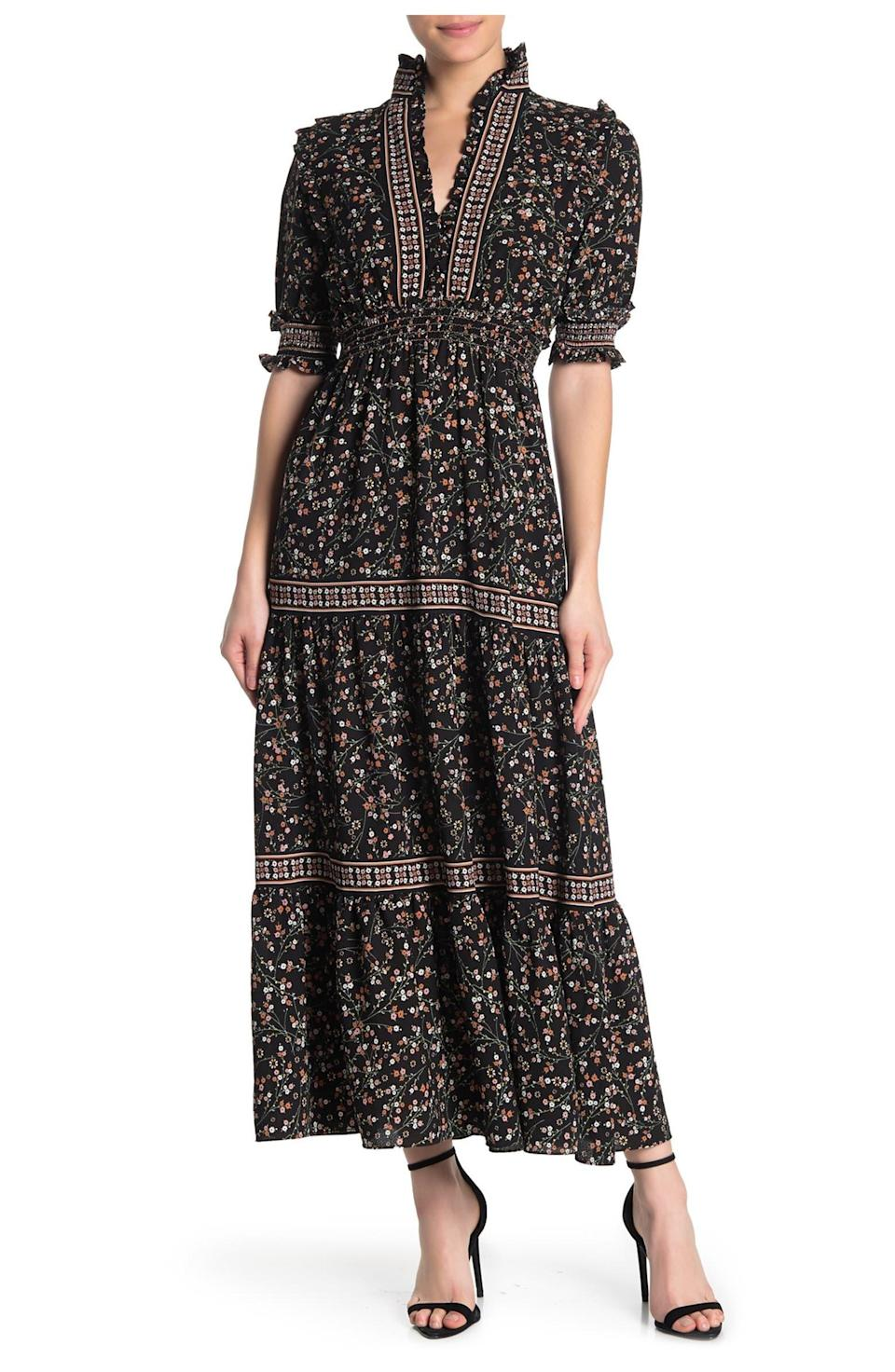"""<h2>Max Studio Print Tiered Maxi Dress<br></h2><br><strong><em>The Compliment Magnet</em></strong><br><br>According to a number of reviewers (mind you, there are over 200 of them in total), this dress is exactly what you need of you want to turn heads this autumn. One happy shopper even attests to it being prettier than its photo.<br><br><strong>The Hype: </strong>4 out of 5 stars; 240 reviews on Nordstromrack.com<br><br><strong>What They're Saying</strong>: """"Prettier in person! It's a great all seasons piece, I plan on wearing it with boots and a sweater now and sandals later on.""""— Meg S, Nordstrom Rack reviewer<br><br><em>Shop <strong><a href=""""https://www.nordstromrack.com/s/max-studio-elbow-length-sleeve-print-tiered-maxi-dress/6043768"""" rel=""""sponsored"""" target=""""_blank"""" data-ylk=""""slk:Nordstrom Rack"""" class=""""link rapid-noclick-resp"""">Nordstrom Rack</a></strong></em><br><br><strong>Max Studio</strong> Elbow Length Sleeve Print Tiered Maxi Dress, $, available at <a href=""""https://go.skimresources.com/?id=30283X879131&url=https%3A%2F%2Fwww.nordstromrack.com%2Fs%2Fmax-studio-elbow-length-sleeve-print-tiered-maxi-dress%2F6043768"""" rel=""""sponsored"""" target=""""_blank"""" data-ylk=""""slk:Nordstrom Rack"""" class=""""link rapid-noclick-resp"""">Nordstrom Rack</a>"""