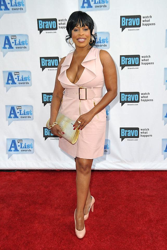 "The outrageous Niecy Nash (""Reno 911,"" ""Clean House"") was pretty in a low-cut pink ensemble. Jordan Strauss/<a href=""http://www.wireimage.com"" target=""new"">WireImage.com</a> - April 5, 2009"