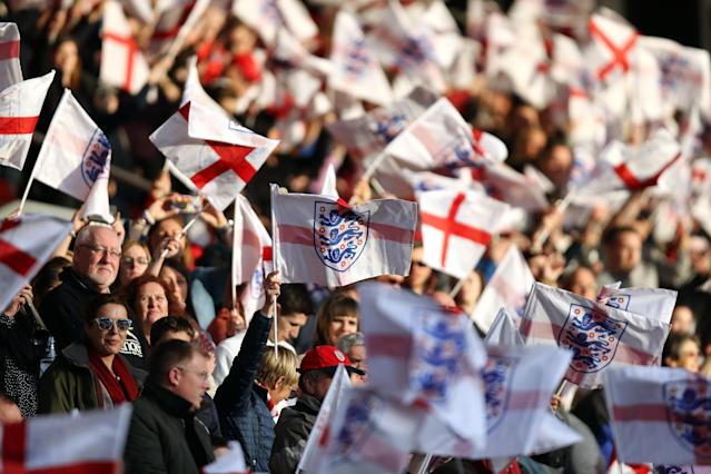 90,000 fans are expected to watch England's match with Germany. (Credit: Getty Images)