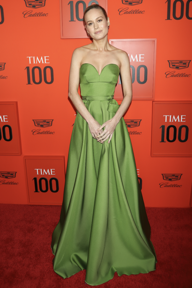 <p>Brie Larson at the 2019 Time 100 Gala at Jazz at Lincoln Center in New York. [Photo: PA] </p>
