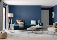 """<p>A moody blue hue is a spectacular shade for the <a href=""""https://www.housebeautiful.com/uk/decorate/living-room/g35838996/living-room-wallpaper-ideas/"""" rel=""""nofollow noopener"""" target=""""_blank"""" data-ylk=""""slk:living room"""" class=""""link rapid-noclick-resp"""">living room</a>. If an all-blue living room feels too daring for you, embrace a two-tone look or bring the colour in through accessories. </p><p>'Add a lick of the rich blue shade to a feature wall or a """"zone"""" to create an on-trend multitasking room,'suggest Dulux. 'When using a dark palette, a combination of surfaces and textures will bring depth to your space as well. Pile on the sheepskin.'</p><p>Pictured: <a href=""""https://go.redirectingat.com?id=127X1599956&url=https%3A%2F%2Fwww.dulux.co.uk%2Fen%2Fcolour-details%2Fsapphire-salute&sref=https%3A%2F%2Fwww.housebeautiful.com%2Fuk%2Fdecorate%2Fwalls%2Fg36128885%2Fcolour-schemes-high-traffic-rooms%2F"""" rel=""""nofollow noopener"""" target=""""_blank"""" data-ylk=""""slk:'Sapphire Salute' by Dulux"""" class=""""link rapid-noclick-resp"""">'Sapphire Salute' by Dulux</a>. </p>"""