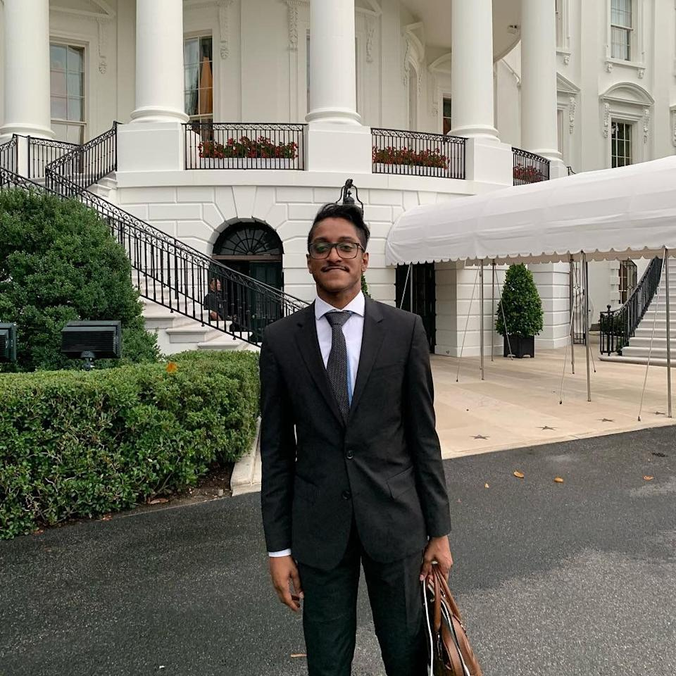 Ali Alexander at the White House for Trump's social media summit in 2019. (Photo: Instagram/Ali Alexander)