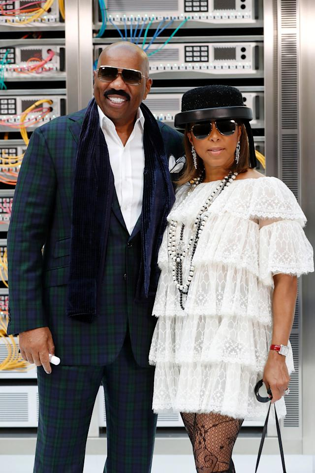 The Harveys at a 2016 Chanel runway show (Photo: FRANCOIS GUILLOT/AFP/Getty Images)