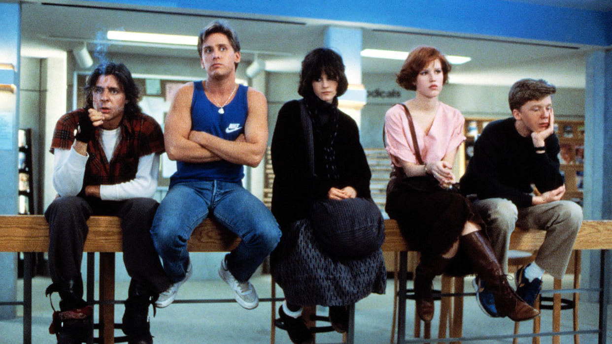 'The Breakfast Club' made stars of Brat Pack actors including Emilio Estevez and Molly Ringwald. (Credit: Universal)