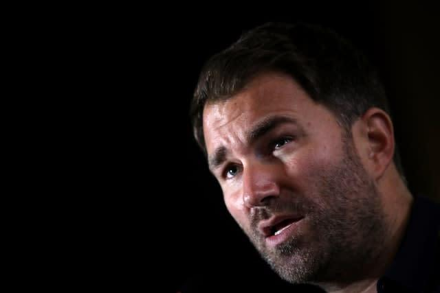 Eddie Hearn says a decision on the fight will be made this week (Nick Potts/PA)