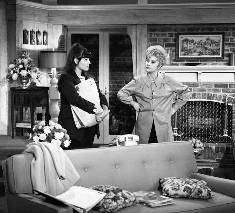 "Lucie Arnaz stars alongside her mother, Lucille Ball, in CBS show ""Here's Lucy,"" from 1968 to 1974. (Photo: CBS via Getty Images)"