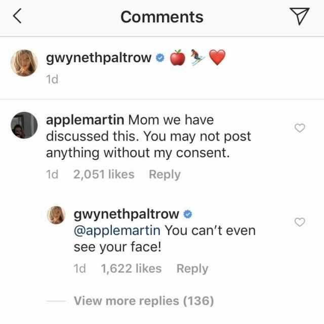 Gwyneth Paltrow Instagram comments