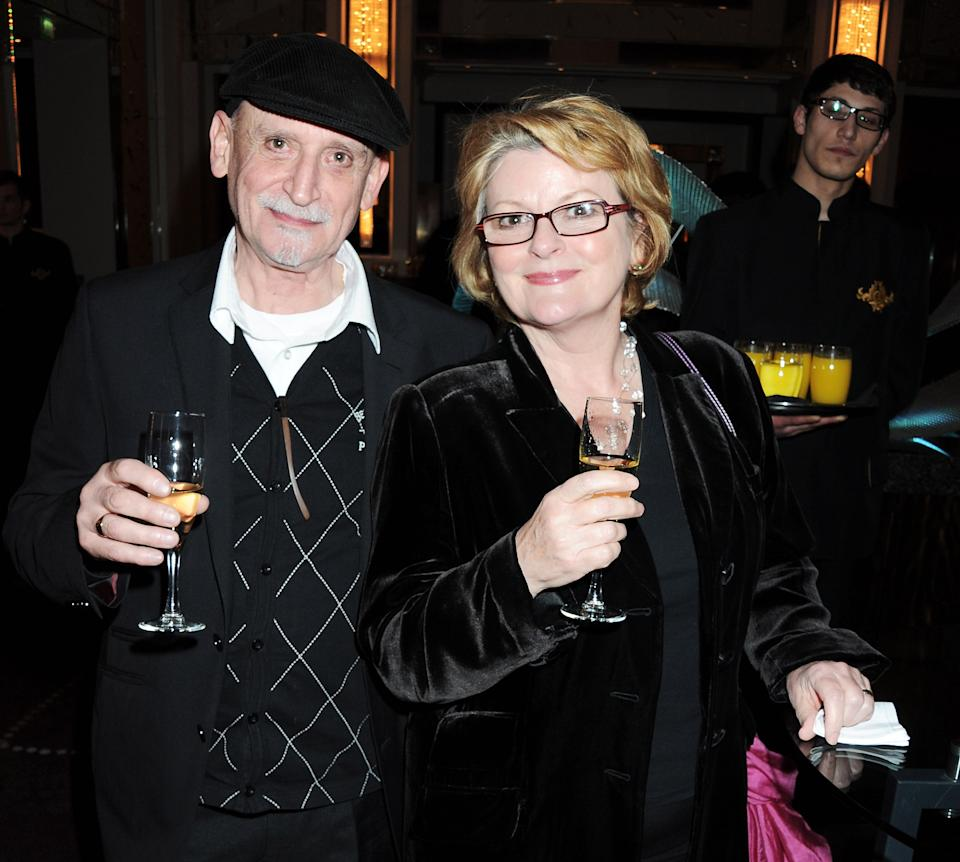 LONDON, ENGLAND - MARCH 27:  (EMBARGOED FOR PUBLICATION IN UK TABLOID NEWSPAPERS UNTIL 48 HOURS AFTER CREATE DATE AND TIME. MANDATORY CREDIT PHOTO BY DAVE M. BENETT/GETTY IMAGES REQUIRED)  Michael Mayhew (L) and Brenda Blethyn attend an after party celebrating the press night performance of 'The King's Speech' at The Langham Hotel on March 27, 2012 in London, England.  (Photo by Dave M. Benett/Getty Images)