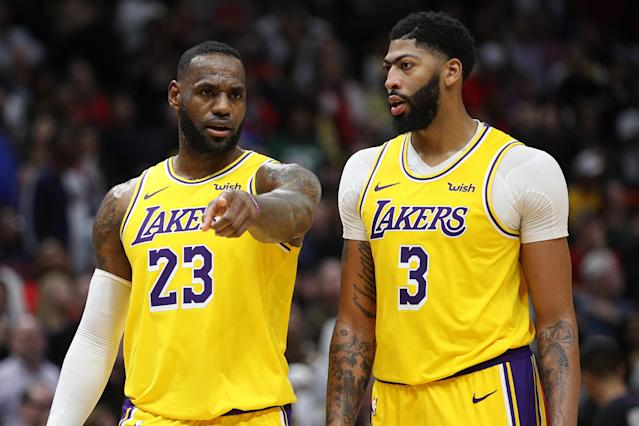 There may be no more talented tandem in NBA history than LeBron James and Anthony Davis. (Chris Graythen/Getty Images)