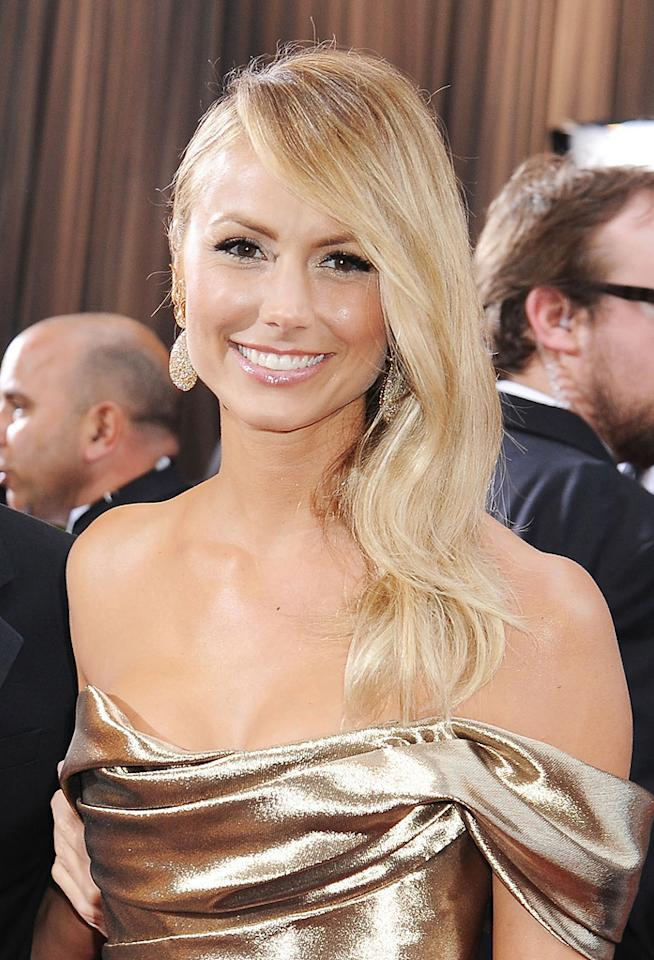 Stacy Keibler arrives at the 84th Annual Academy Awards in Hollywood, CA.