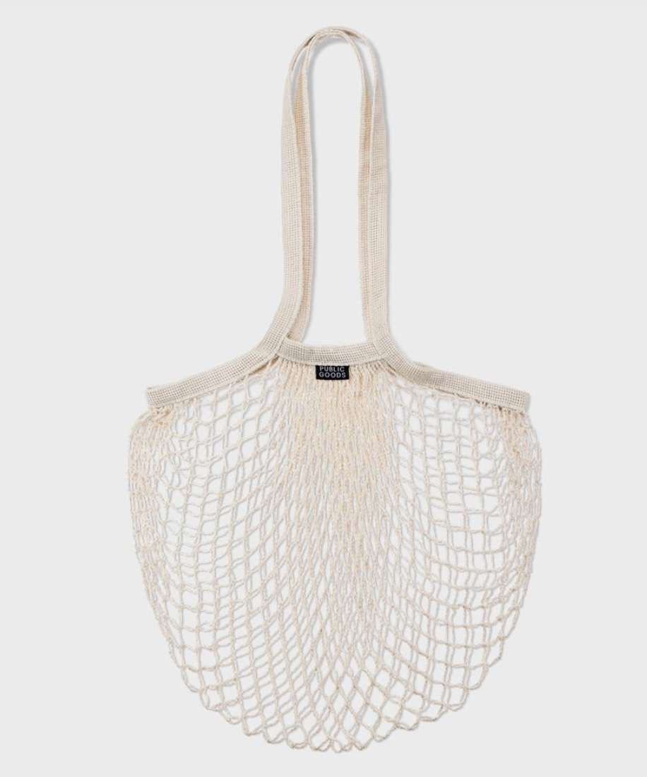 wide mesh tote bag