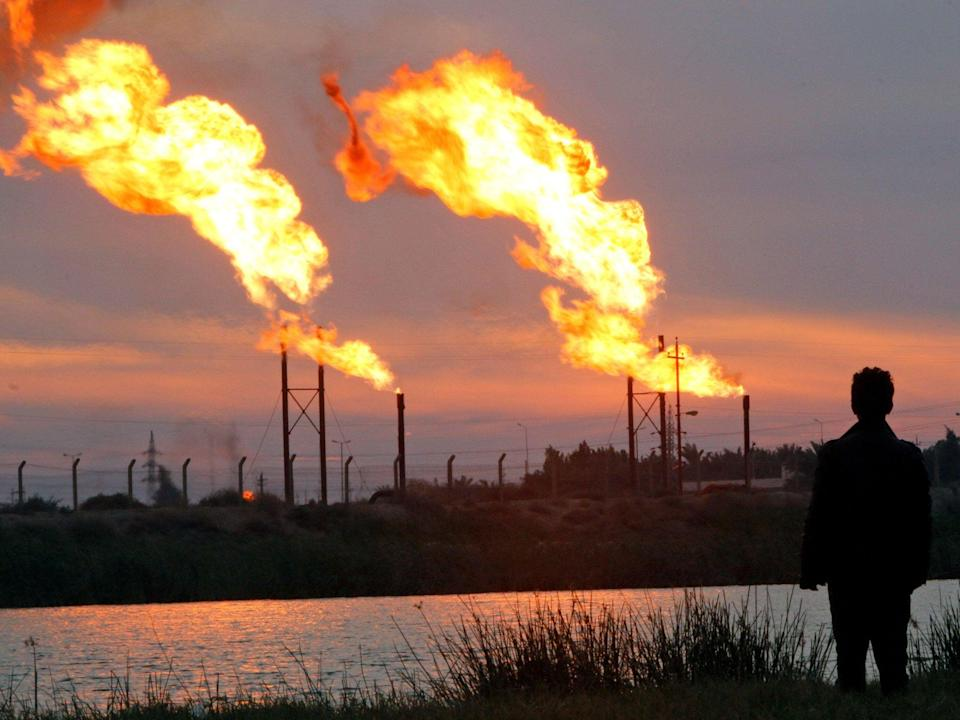 <p>Across Iraq, 17 billion cubic metres of gas are burnt a year</p> (Reuters/Alamy)