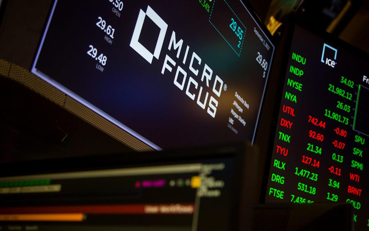 "Micro Focus has revealed that a revenue slump disclosed in a dramatic profit warning two months ago had not been as bad as first feared, leading to a recovery in the British software giant's shares. The FTSE 100 group's chief executive Chris Hsu left in March after it said revenues would decline by up to 9pc this year. The drop followed the $8.8bn (£6.5bn) takeover of Hewlett Packard Enterprise (HPE)'s software division, a unit that included the remnants of British tech group Autonomy, and the warning was seen as a sign the deal had gone sour, sending Micro Focus's shares down 46pc. On Wednesday, the company said that forecasts of a 9pc to 12pc revenue decline in the six months to the end of April were overly pessimistic, with sales boosted by a one-off $40m (£30m) sale. Even without the deal, the company said the decline was towards the better end of the range. Although Micro Focus repeated forecasts that revenues for its full year would fall by between 6pc and 9pc, the news still prompted an 8.7pc rise in the company's shares. They have now recovered almost half of the one-day share price drop resulting from March's profit warning. micro focus shares three months Micro Focus's takeover of HPE's software unit, completed last year, was the biggest ever acquisition by a British technology company, leading it to double in size. It saw assets from the former FTSE 100 software group Autonomy return to British ownership six years after Hewlett Packard bought it for $11bn. The deal quickly turned sour and led to allegations of accounting fraud. Kevin Loosemore, Micro Focus's executive chairman, has continued to defend the deal and promised to iron out the problems associated with it. Technology intelligence - newsletter promo - EOA The company's chief executive Stephen Murdoch, who replaced Mr Hsu in March, said Micro Focus would show signs of progress soon. ""The Micro Focus team is making encouraging progress on improving both the discipline and speed of execution within the business,"" Mr Murdoch said. ""We look forward to providing detail on this progress and our operational priorities at our forthcoming interim results."""