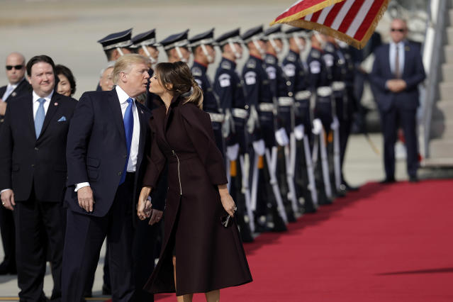 Rumors persist that President Trump cheated on Melania. (Photo: Getty Images)