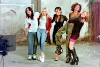 <p><strong>When? </strong>May, 1998</p><p><strong>Where? </strong>London</p><p><strong>What?</strong> Recording the music video for their official World Cup single '(How Does It Feel) To Be On Top Of The World'.</p>