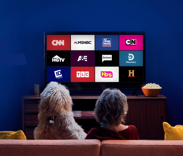 Bring on the popcorn (and not your credit card)—it's TV time. (Photo: Sling TV)