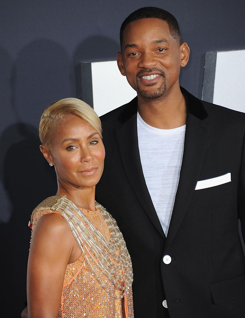 "Jada Pinkett Smith and Will Smith arrive at the premiere of ""Gemini Man"" in 2019. (Photo: Albert L. Ortega via Getty Images)"