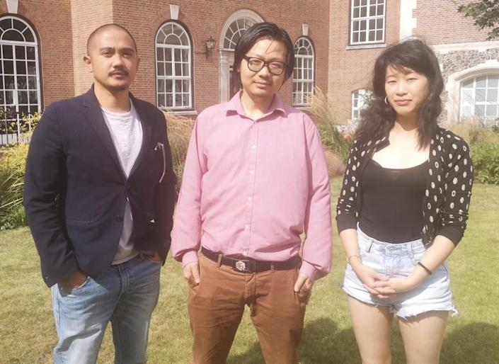 Alvin Carpio, Lu Gram and Hau-Yu Tam are part of a campaign to launch the UK's first non-profit organisation dedicated to addressing racism faced by people of east and south-east Asian heritage. (Lu Gram)