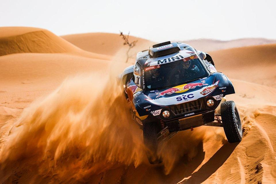 "#300 X-Raid Mini JCW Team: Carlos Sainz, Lucas Cruz<span class=""copyright"">A.S.O. </span>"