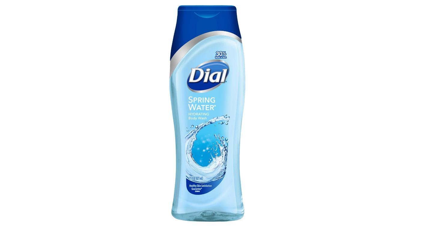 Dial® Spring Water® Body Wash, $3.98, awakens your senses with the natural and refreshing scent of Spring Water® that'll leave you with healthy feeling skin, plus a brisk scent the whole family will love. (Photo: Dial®)