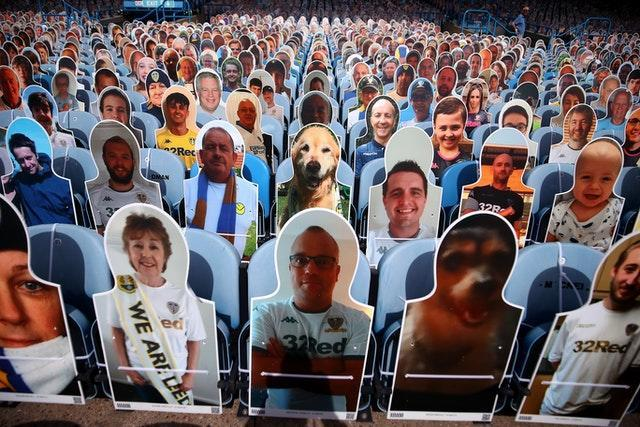 Cardboard cutouts replaced real fans at Elland Road