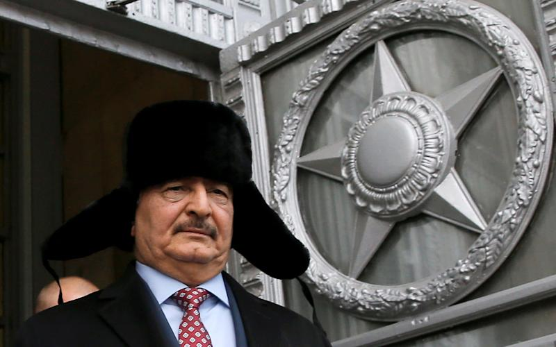 General Khalifa Haftar in Moscow in November - Maxim Shemetov/Reuters