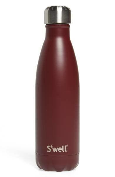 "Save water and drink wine with this insulated Swell bottle. Get it at <a href=""http://shop.nordstrom.com/s/swell-bordeaux-insulated-stainless-steel-water-bottle/4720469?origin=keywordsearch-personalizedsort&fashioncolor=BOURDEAUX"" target=""_blank"">Nordstorm</a>."
