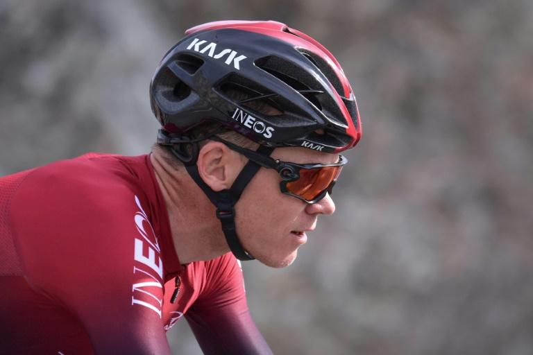 Chris Froome in action for Team Ineos in February 2020
